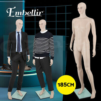 【20%OFF】Full Body 185cm Male Mannequin Head Clothes Display Dressmaking Torso