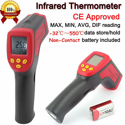 -32 to 550℃ Non-Contact Digital Infrared IR Thermometer Temperature Laser Gun