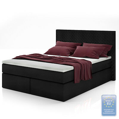 120x200 boxspringbett bett komfortbett hotelbett. Black Bedroom Furniture Sets. Home Design Ideas
