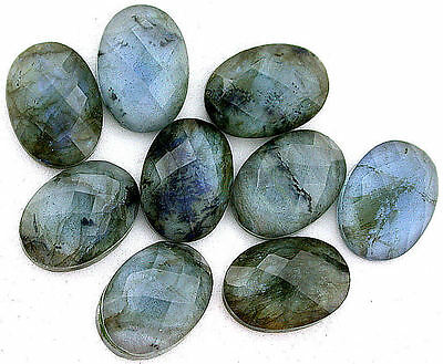 ONE 18x13 18mm x 13mm Facet Doublet Quartz Crystal Labradorite Cabochon Cab Gem