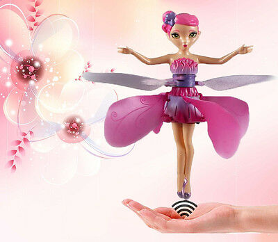 HOT ! Induction Control Flying fairy Doll Hand Infrared Dolls Toy Gift For girls