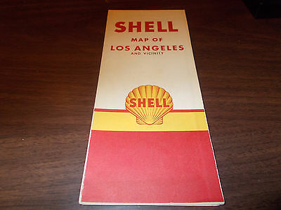 1951 Shell Los Angeles Vintage Road Map