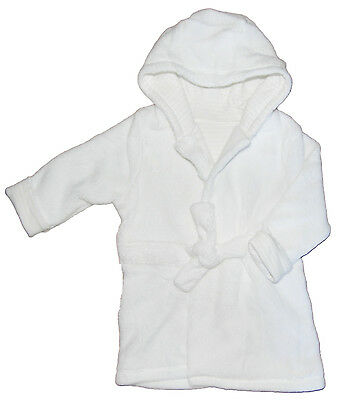 Unisex Dressing Gowns Bath Robe White or Brown Paw Print Upto 3M 6M 9M or 12M