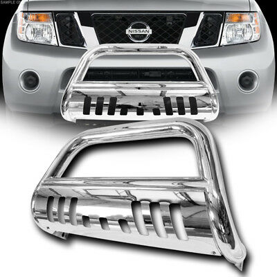 Stainless HD Chrome Bull Bar Push Bumper Grill Grille Guard Fit 08-12 Pathfinder