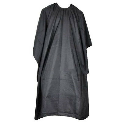 FD2979 Pro Black Salon Hair Cut Hairdressing Hairdresser Barbers Cape Gown Adul☆