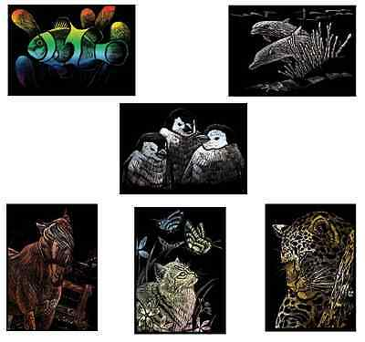Pick From 6 New Animal Pictures Engraving Art A5 Scraper Foil Craft Kits & Tool
