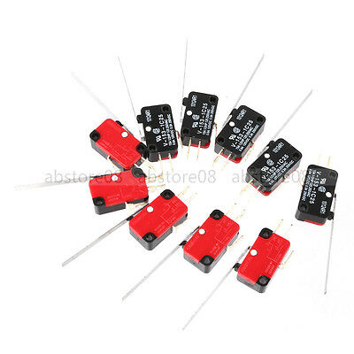 10pcs MICRO SWITCH V-153-1C25 ROLLER TIP LEVER SNAP ACTION SWITCH
