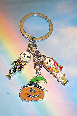 Nightmare Before Christmas Key Ring Jack Sally Skellington Pumpkin King Gift Bag