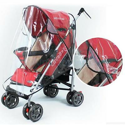 Universal Baby Stroller Bassinet Buggy Pram Pushchair Rain Cover Clear