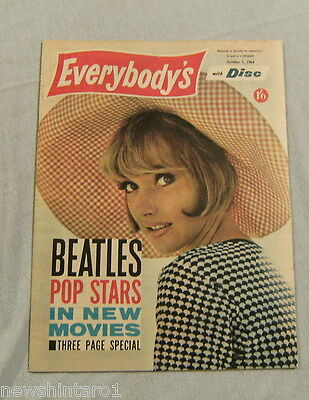 EVERYBODYS MAGAZINE October 7th 1964 - THE BEATLES ARTICLE