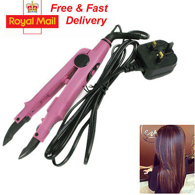 Pre-Bonded Hair Extensions Fusion Heat Iron Connector Wand UK plug HT
