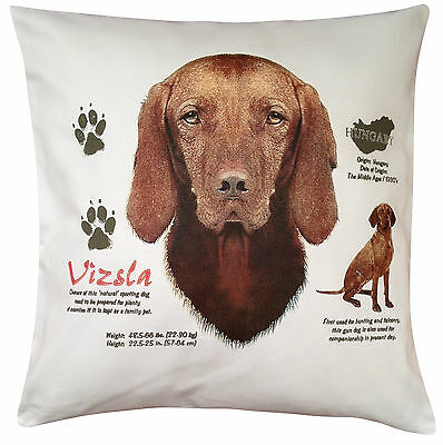 Vizsla History Breed of Dog Cotton Cushion Cover - Perfect Gift
