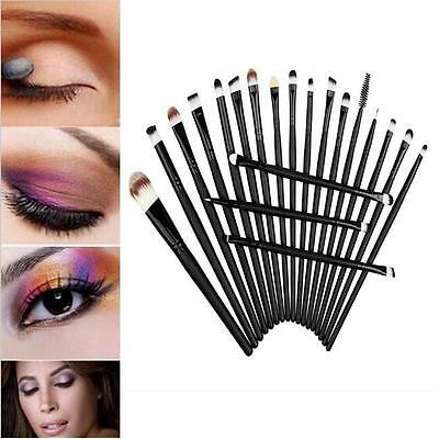 Pro Makeup Set Kit 20pcs Eyeshadow Eyebrow Eyeliner Lip Cosmetic Soft Brushes CB