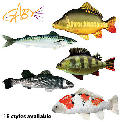 Gaby Fish Bivvy Pillows Carp, Pike, Perch, Salmon, Cod etc. Gift Novelty