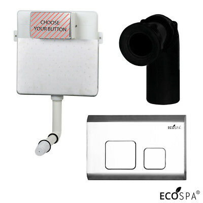 Concealed WC Toilet Back to Wall Cistern Front Access Chrome Dual Flush Plate