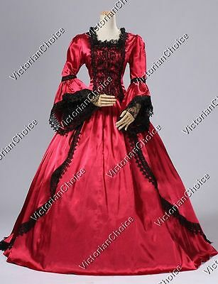 Renaissance Fair Gothic Marie Antoinette Dress Ball Gown Theatre Clothing 150