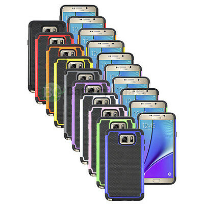 Lot of 10 Hybrid Rugged Rubber Hard Case Cover Skin for Samsung Galaxy Note 5