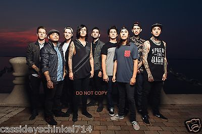 """Pierce the Veil & Sleeping with Sirens Reprint 11x14"""" Poster Photo #1 RP Fuentes"""