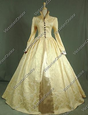 Queen Elizabeth Renaissance Period Prom Dress Ball Gown Theater Clothing 162