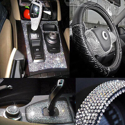 918pcs 3mm Clear Self Adhesive Rhinestone Crystal Bling Stickers Phone Car Art