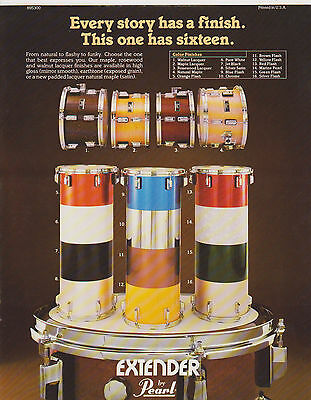 Vintage Musical Instrument Catalog #10420 - Pearl Extender Drum Finish