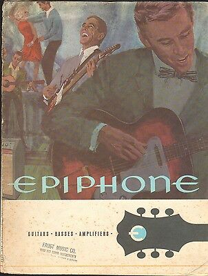 VINTAGE MUSICAL INSTRUMENT CATALOG #10278 - MID 1960s EPIPHONE GUITARS & AMPS