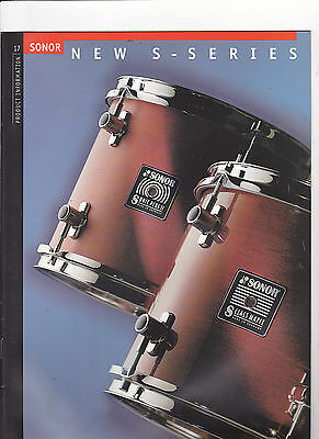 Vintage Musical Instrument Catalog #10509 -  Sonor Drums - New Series