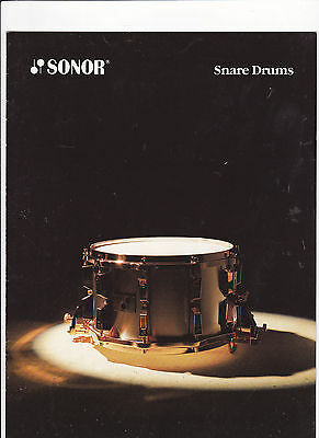 Vintage Musical Instrument Catalog #10503 - 1989 Sonor Snare Drums