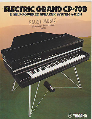VINTAGE MUSICAL INSTRUMENT CATALOG #10454 - 1970s YAMAHA CP-70B GRAND