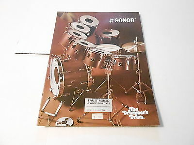 VINTAGE MUSICAL INSTRUMENT CATALOG #10200 -1970s SONOR DRUMS