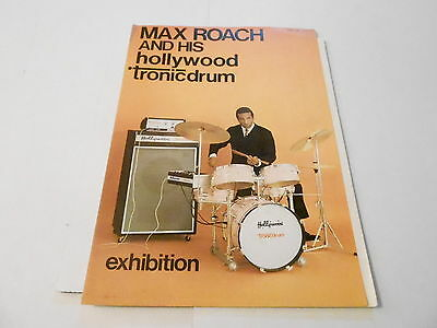 Vintage Musical Instrument Catalog #10080 - 1968 Tronic Drums - Max Roach
