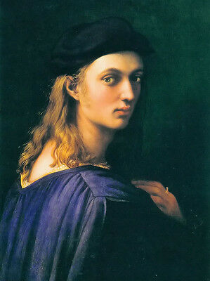 Hand painted Oil painting Raphael - portrait of bindo altoviti with long hair