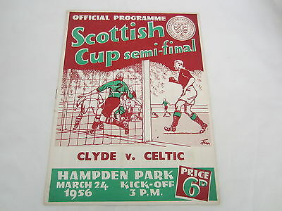 1955-56 SCOTTISH CUP SEMI-FINAL CLYDE v CELTIC