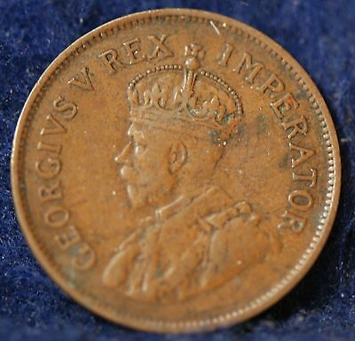 South Africa, 1931 1/2 Penny, Sailing Ship, Fine+