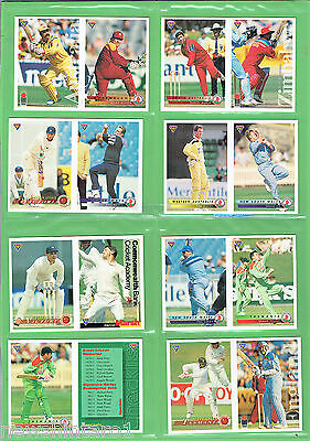 #t52.  Lot Of 1994 Futera Promotional Cricket Cards