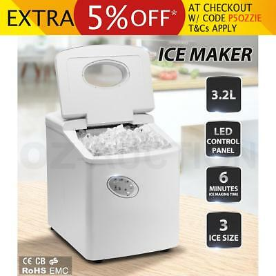 3.2L Home Portable Cube Ice Maker Machine w/ LCD Control Panel Easy Auto Snow WH