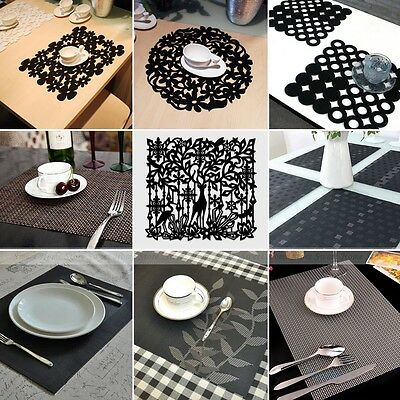 17 Kinds Dinner Placemats Party Tableware Table Mats Dinner Coaster 4pcs