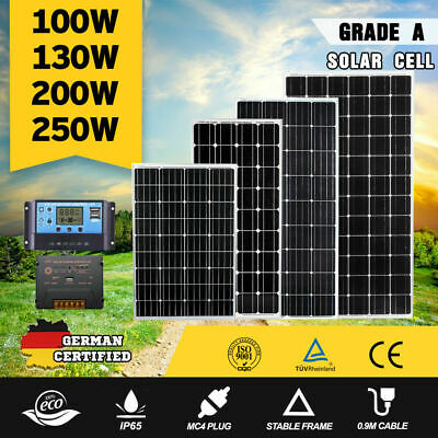 12V 250W 200W 130W 100W Solar Panel 20A 30A Solar Power Regulator Controller Kit