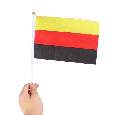 12 GERMANY HAND WAVING FLAG Small GERMAN Berlin Football Sports Pole Banners