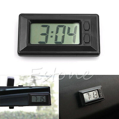 Universal Digital Clock For Car-Truck-Bike-Scooter Interior Dash Black New