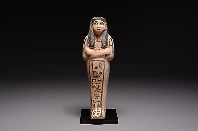 Ancient Egyptian New Kingdom Faience Shabti for Ne-Hemt Wa-ayt