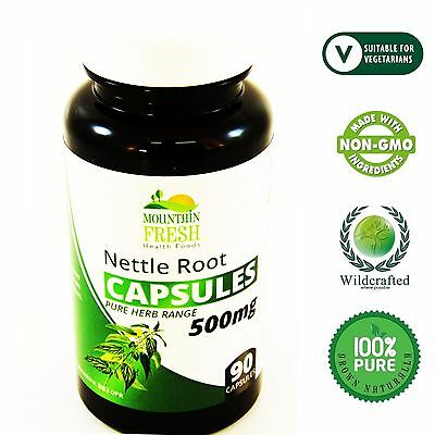 Stinging Nettle Root Urtica Dioica Pure Herb Capsules 100 X 500mg
