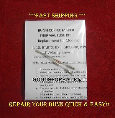 Repair Your Bunn Coffee Maker ~ Water not Heating? New Thermal Fuses ~ READ ADD!