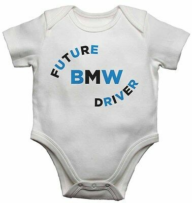 Future BMW Driver - Personalized Baby Vests Bodysuits Boys Girls - White