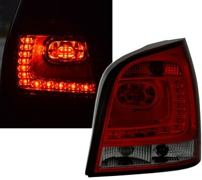 LED Rückleuchten Set 6R Style für VW Polo 9N 9N3 in Rot Smoke von EAGLE EYES