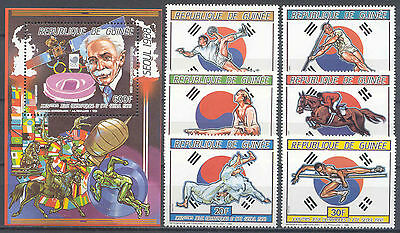 Olympiade 1988, Olympic Games, Space - Guinea - 1139-1144, Bl.245 ** MNH