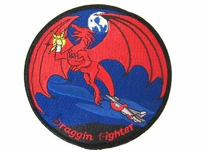 USAF Tennessee Air Guard 134th KC-135 Refueler Draggin Fighter Nose Art Patch