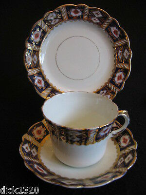 EDWARDIAN G.WARRILOW DERBY STYLE CHINA CUP/SAUCER/PLATE TRIO #1286 c.1900's