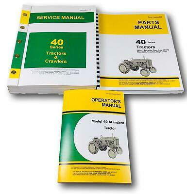 John Deere 40 Standard Tractor Service Parts Operators Manuals Catalog Repair