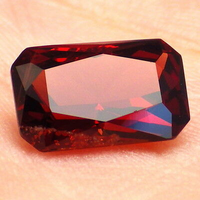 IMPERIAL GARNET-MALAWI 3.58Ct P1-INCREDIBLE ORANGE RED PINK COLOR-RARE!